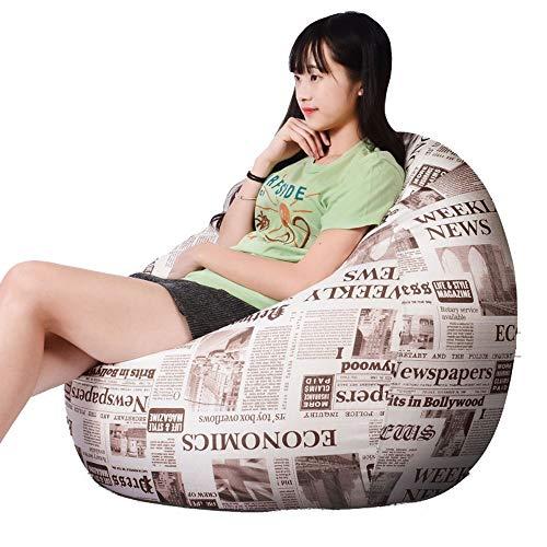 ZYLE Lazy Couch Bean Bag Tatami Divano Singolo in Tessuto Moderno Semplice e Confortevole Sedia Spessa Rimovibile e Lavabile Piccolo Medio Grande Extra Large (Color : Retro, Size : XL)