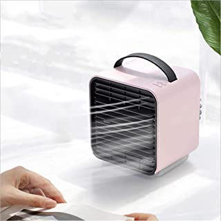 Cxefq Mini Air Cooler, Dispositivo de Aire Acondicionado móvil 3 en 1, Mini Air Conditioner Fan Air Cooler con USB, para Office Home-Rosado