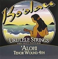 【KO'OLAU STRINGS】 ALOHI TENOR WOUND 4TH テナー用 ウクレレ弦セット (高密度モノフィラメント繊維 4弦のみ巻弦 Low-G)