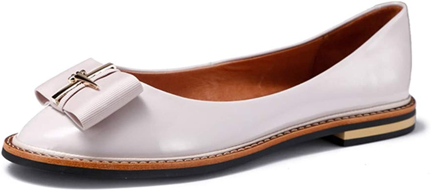 Bea-life shoes Casual Work Loafers shoes Woman Genuine Leather Flats Ladies shoes