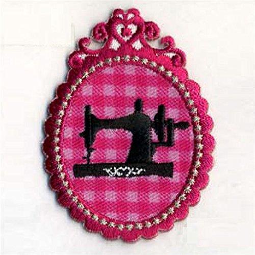 Lot de 3insignias–Juego de 3insignias Boutique Lady máquina de coser