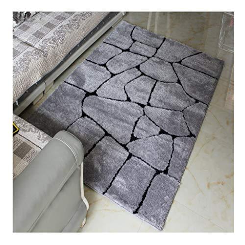 HAOJUN *Bereich Teppich Verschlüsselter Seidenteppich Wohnzimmer Couchtisch Einfache Bodenmatte Schlafzimmer Dicker Teppich Teppich (Color : N, Size : 120cm*170cm)