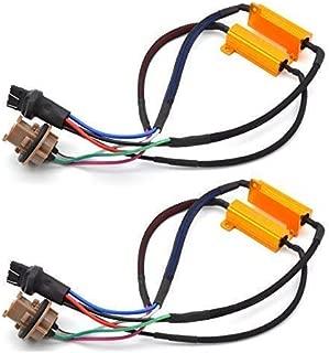 TUINCYN 2pcs 50W 8 ohm 7443 7444NA Led Load Resistor - Fix Headlight LED Bulb Fog Lamp Fast Hyper Flash Turn Signal Blink Light Error Code Canbus Resistors Decoder