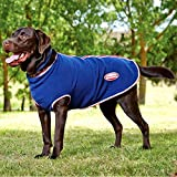 Weatherbeeta Fleece Zip Dog Coat - Navy/Red/White - Size: 65Cm