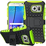 K-Xiang Galaxy S7 Case, (Armor Series) TPU Heavy Duty Dual Layer Shockproof Silicone Phone Protective Case Hybrid Kickstand Cover for Samsung Galaxy S7 2016 (Not Applicable Galaxy S7 Edge) (Green)