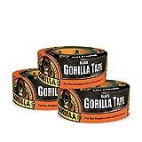 Gorilla Tape、ブラック ダクトテープ、1.88インチ x 12ヤード、ブラック 3 - Pack ブラック 6001203-3 3