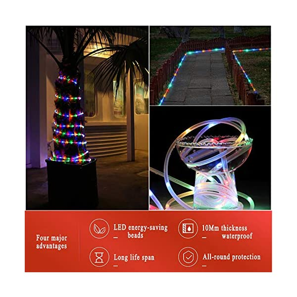 LED Fairy Rope String Lights - Liwiner USB Powered 33FT 100 LED String Light with Remote Timer 8 Mode Dimmable Strip… 5