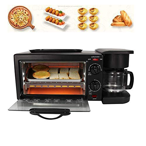 Review Elitte Automatic Breakfast Maker Station Hub Multifunctional Breakfast Maker Toaster Oven Gri...