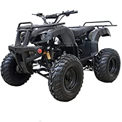 【Powerful & Stable 4 Stroke Air-cooled Engine】169cc reliable, electric start 4-stroke air-cooled engine designed to prevent overheating. There will be no worries about overheating or extra engine maintenance with this ATV. 【Bright LED Headlight & Big...
