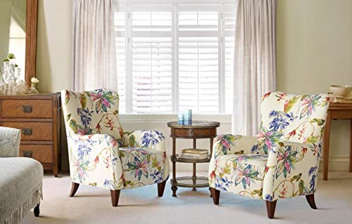 Best Jennifer Taylor Home Paradise Collection Modern Floral Print Cotton Blend Upholstered Accent Arm Cha