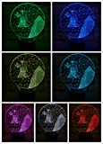 Signos del zodiaco occidental Luz nocturna LED Sensor tácti