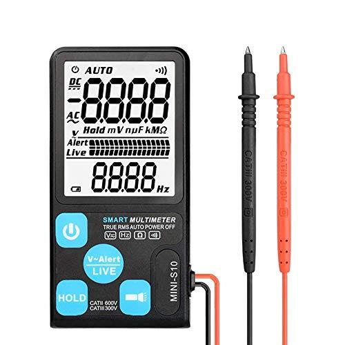 BXU-BG Multímetro digital, anti-quema de voltaje de CC NCV AC/Indicador de verdadero valor eficaz ESR medidor Mini Multi Meter con los granos de iluminación LED