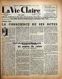 VIE CLAIRE (LA) [No 146] du 01/11/1959 - LA CONSCIENCE DE SES ACTES ENCORE L'HUILE DE...