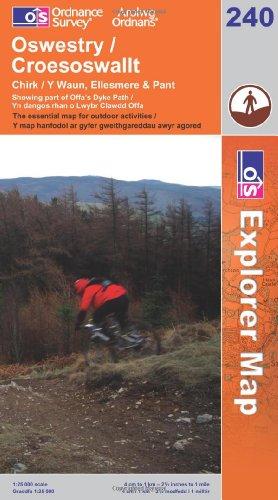 OS Explorer map 240 : Oswestry / Croesoswallt