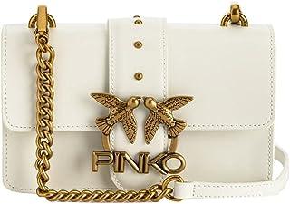 1P22AF.Y6XT Z14 Blanco + Blanco Pinko Pinko Piel Bolso Mujer