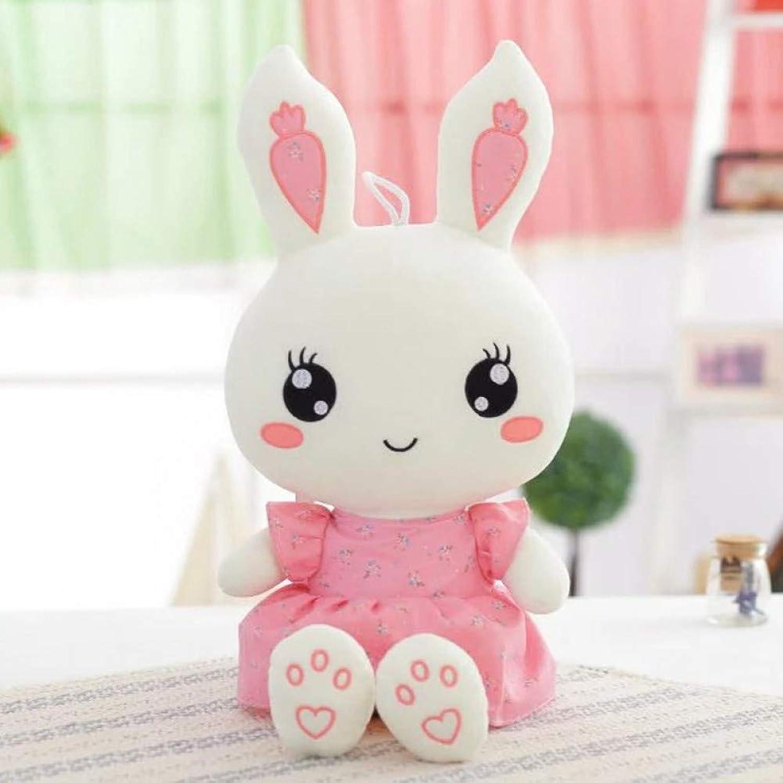 LAIBAERDAN Cute Bunny Plush Toy Large Floral Radish Rabbit Doll Doll Doll Birthday Gift Girl