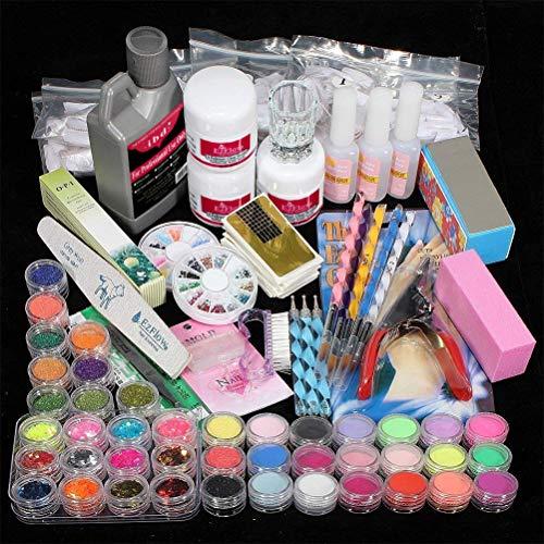 FairySu Woqook Beauty Shop Gel acrílico UV Gel Set Esmalte de uñas DIY Manicure Set