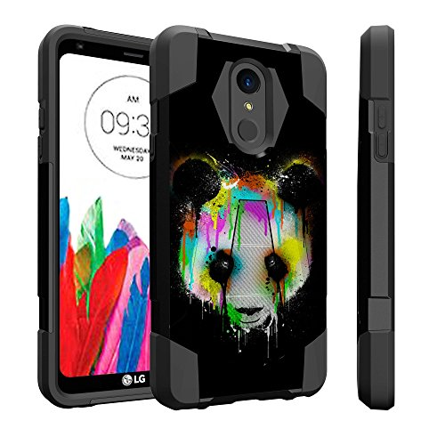 Untouchble Compatible with LG Stylo 4, Stylus 4, LG Q Stylus (2018) Case [Traveler Series] Combat Shockproof Dual Layer Hybrid Case Cover Kickstand - Colorful Panda Bear