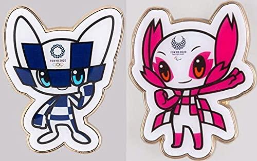 東京 2020 オリンピック パラリンピック マスコット ピンズ ピンバッジ 2種セット ミライトワ ソメイティ 公式 グッズ