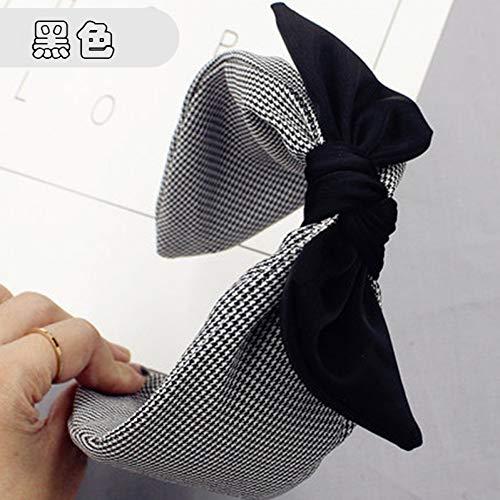 JINGMO Filles Bohème Plaid Satin Knot Hairband avec Bow Handmade Headband Accessoires De Cheveux Personnalisés