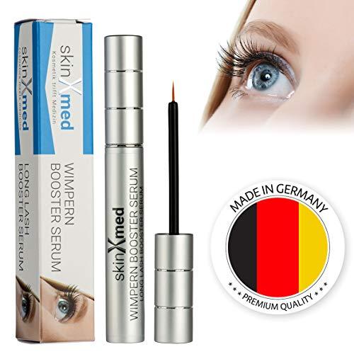 SkinXmed Wimpernserum | Long Lash Booster | für mehr Dichte und Volumen | schnelleres Wachstum | Wimpern und Augenbrauen | ohne Parabene | natürliche Wimpernverlängerung (6ml)