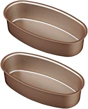 Set of 2 Bakeware Pans, Oval Shape Nonstick Carbon Steell Baking Tray, Cake Pop Moulds Bread Loaf Mold Cheese Cake Tin, Ca...