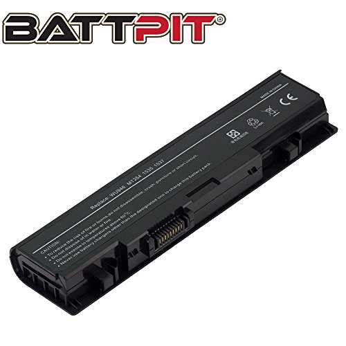 Battpit Laptop Akku für Dell PP39L PP33L MT277 WU960 WU946 MT264 PW773 KM887 Studio 1535 1536 1537 1555 1557 1558 - [6 Zellen/4400mAh/49Wh]