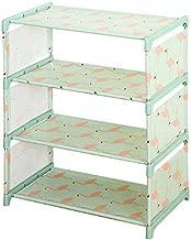Pindia 4 Tier Leightweight Shoe Book Storage Rack Household Organizer - 45x25.5x55.5 cm