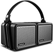 Bluetooth Speakers, Zamkol Portable Bluetooth Speaker Waterproof 25W 2-in-1 Wireless Stereo Pairing Booming Bass, IPX7, Built-in Mic, Durable for Home Party, Outdoor, Travel, Camping