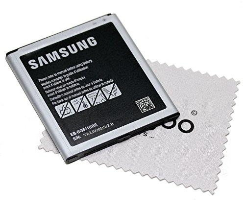 Akku für Samsung Original für Samsung Galaxy J5 (J500F) BG531BBE mit mungoo Displayputztuch