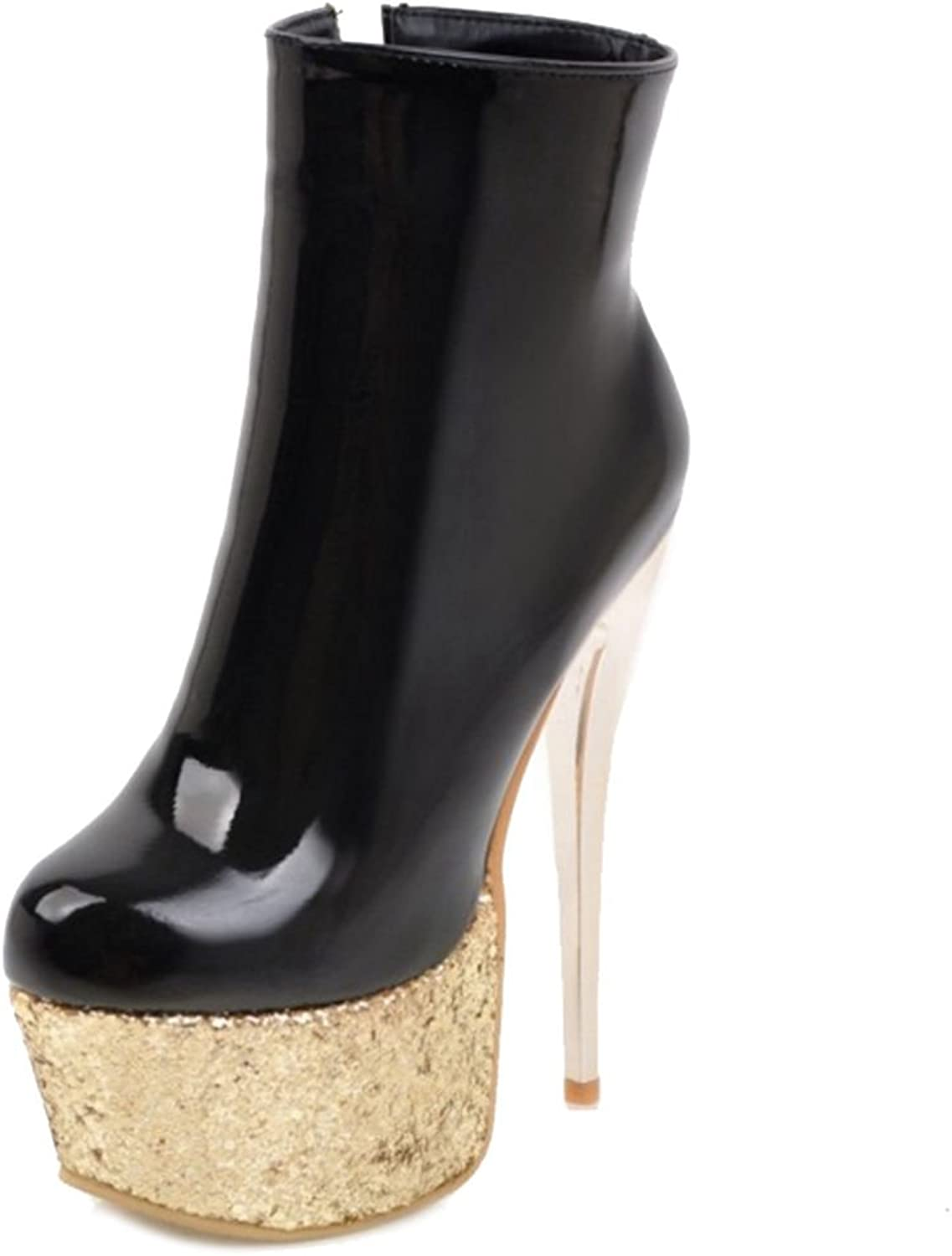 3e93588045355 Sexy Ankle Boots with Stiletto and Thick Platform Party Boots Large ...