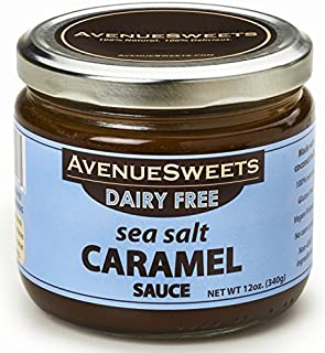 AvenueSweets - Handcrafted Dairy Free Vegan Caramel Sauce - 1 x 12 oz Jar - Sea Salt