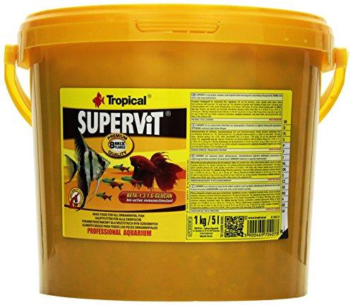 Tropical Supervit Premium Hauptfutter (Flockenfutter) für alle Zierfische, 1er Pack (1 x 5 l)