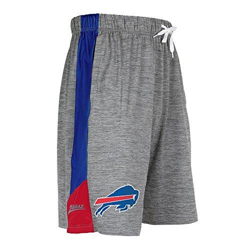Zubaz NFL Buffalo Bills Male NFL Space Dye Shorts, Gray, Small