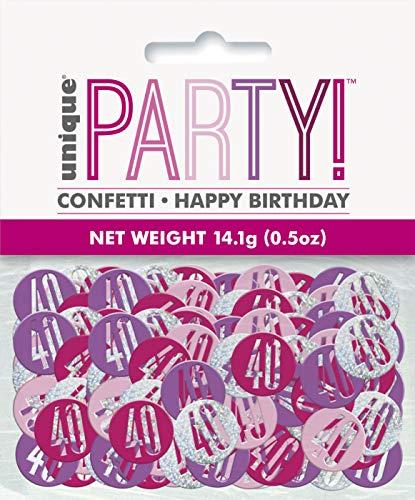 Unieke partij 56450 Ballonnen Confetti Age 40 roze