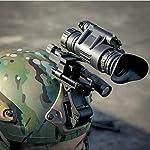 Changli Digital Night Vision PVS-14 IR Night Vision Monoculars Rifle Scope Telescope with J-Arm for Helmet, for Night Patrol Hunting