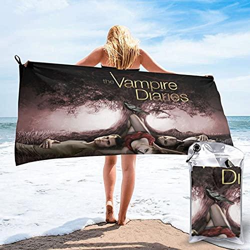 XCNGG The Vampire Diaries Toallas de Microfibra de Secado rápido para Playa, Secado rápido, sin Arena Toallas de Playa súper absorbentes Toalla Fina para Viajes, Gimnasio, Acampada, Piscina, Yoga, al
