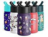 Simple Modern 10oz Disney Summit Kids Water Bottle Thermos with Straw Lid - Dishwasher Safe Vacuum Insulated Double Wall Tumbler Travel Cup 18/8 Stainless Steel - Disney: Nightmare Before Christmas
