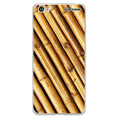dakanna Funda Compatible con [Xiaomi Mi5 / Mi 5] de Silicona Flexible, Dibujo Diseño [Estampado de Madera bambú], Color [Borde Transparente] Carcasa Case Cover de Gel TPU para Smartphone
