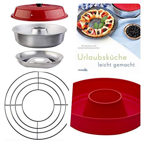Omnia Einsteiger Set mit Kochbuch Aufbackgitter und Silikon-Backform