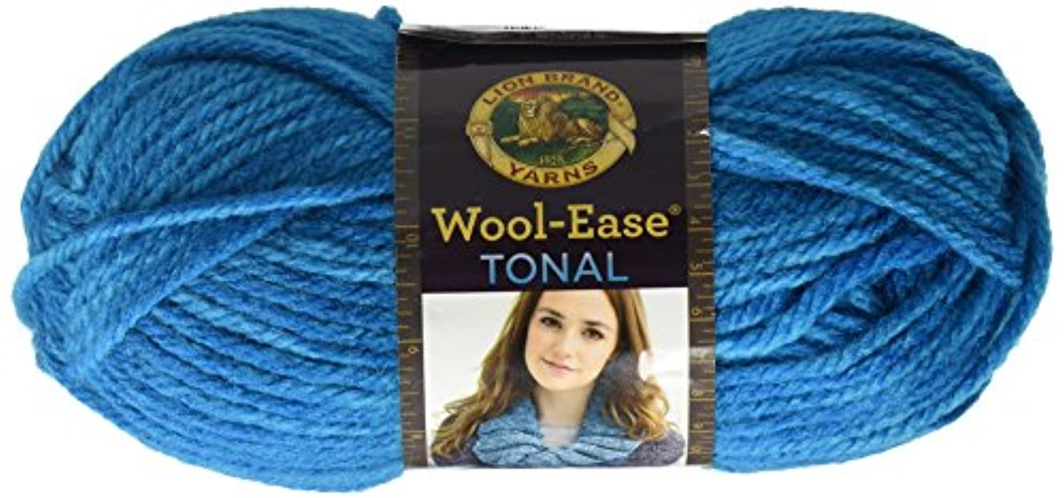 Lion Brand Yarn 635-102 Wool-Ease Tonal Yarn, Aqua