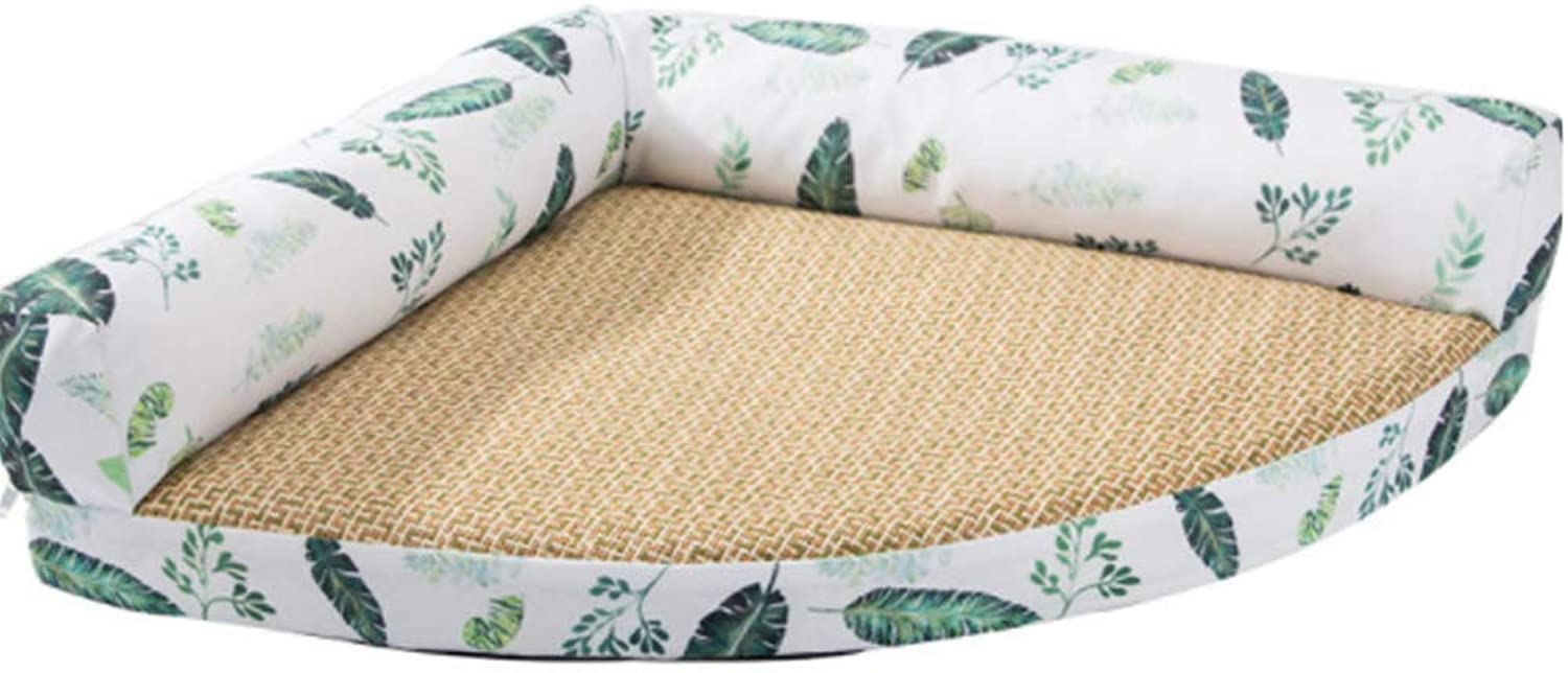 Pet Dog Lshaped Lounge Pet Bed With Breathable Mat And Removable