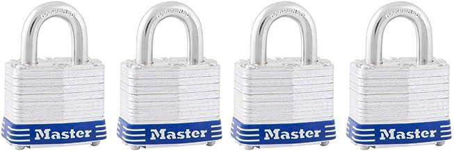 Master Lock 1-9/16-Inch Wide Keyed-Alike Padlock, 3/4-Inch Shackle, 3008D
