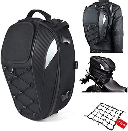 Motorcycle Tail Bag Seat Bag Dual Use Motorcycle Waterproof Helmet Bag for Motorbike Full Face product image