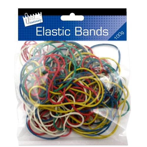 Just Stationery - Elastici in gomma, colori assortiti