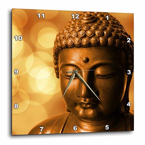 3D Rose Golden Asia Buddha Symbol Wall Clock, 10' x 10'
