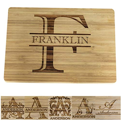 Brew City Engraving - Custom Personalized Engraved Bamboo Cutting Board - Best Personalized Gift For Chefs