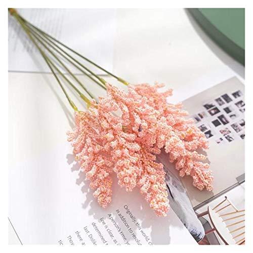 YONGYONGMY Künstliche Blumen 6 Teile/Paket Künstliche Vanille Mini Foam Beere Spike Künstliche Blumen Blumenstrauß Für Wohnanlage Wanddekoration Getreide Pflanze Haufen (Color : Pink)