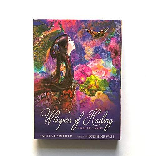 Whispers of Healing Oracle Tarjetas Tarot Oracle Tablero Tablero Deck Games Tarjetas de Juego para Fiesta Juego