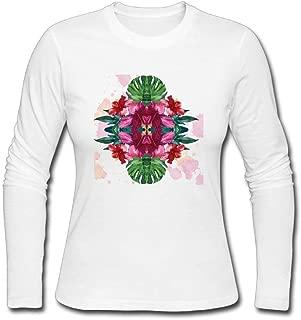 Yonabb Womens Fashion Hibiscus Rosa-sinensis Flower Generic T-Shirt